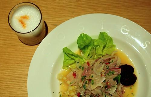 Ceviche y Pisco Sour