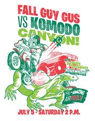 vs komodo canyon (Gimetzco) Tags: dogs reservoir motorcycle bigfoot komododragon stuntshow lafraise yeticorn