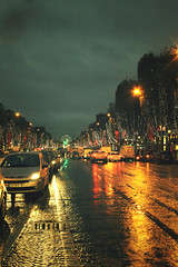 Paris At Night.. (- M7D . S h R a T y) Tags: lighting paris france rain night champselysees moment arcdetriomphe 5photosaday wordsbyme allrightsreserved champslyses