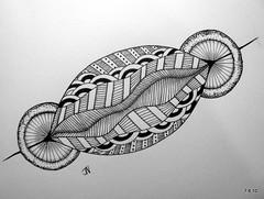 (Jo in NZ) Tags: pen ink drawing line doodle zentangle nzjo zendoodle