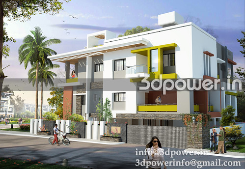 3d View Of Apartment Skim Www 3dpower In Apartment Elevation A