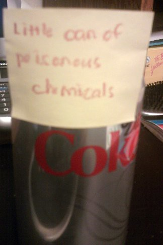 Little can of poisonous chemicals