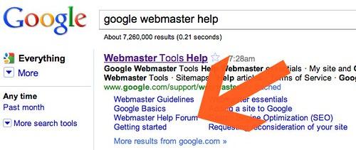 Google Webmaster Help Forum Sitelink