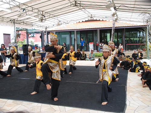 馬來傳統文化館正在辦傳統的Muara紀念活動,武術版