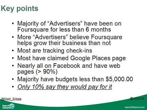key points of foursquare advertiser survey