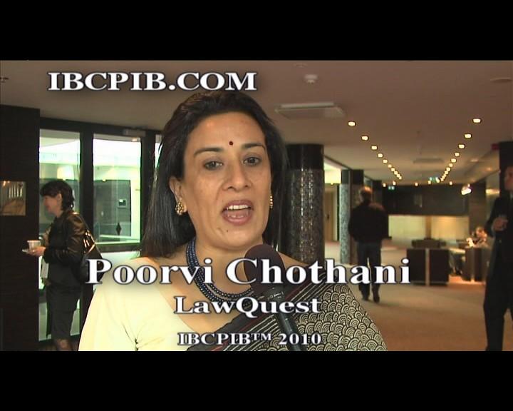 Speaker IBCPIB™ 2010 - Poorvi Chothani