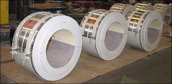 Pre-Insulated Pipe Supports for an LNG Plant