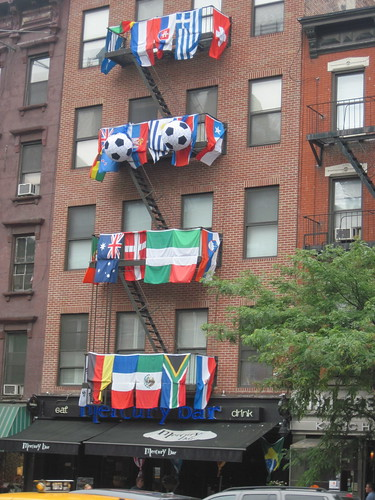Building Clad in World Cup Decorations
