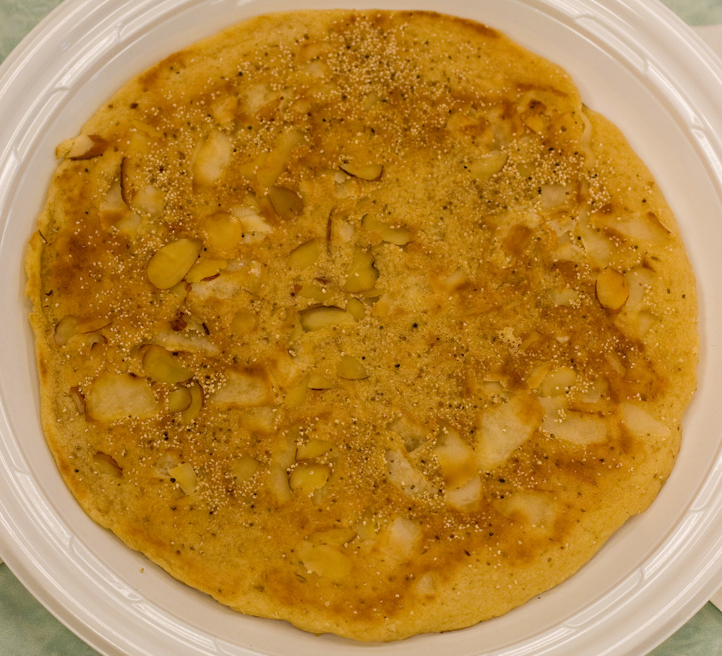 Burmese pancake with coconut and almonds, Burmese Food Fair
