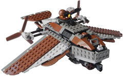 Medium Steam Ornithopter Gunner Mk. LII (front) (aillery) Tags: bird plane war lego military air great craft steam machines gunner steampunk ornithopter