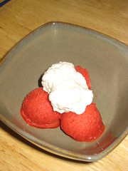 Strawberry sorbet!