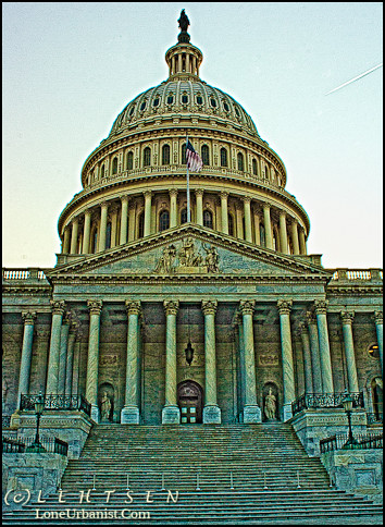The U.S. Capitol After Sunser