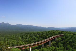 沒有紅葉仍然很壯觀的三国峠