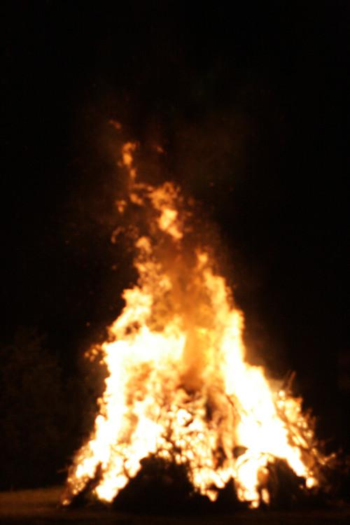 big bonfire...