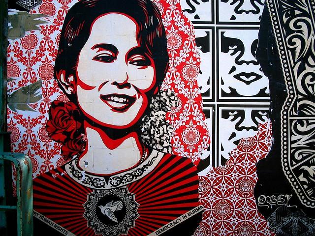 Aung San Suu Kyi & Shepard Fairey