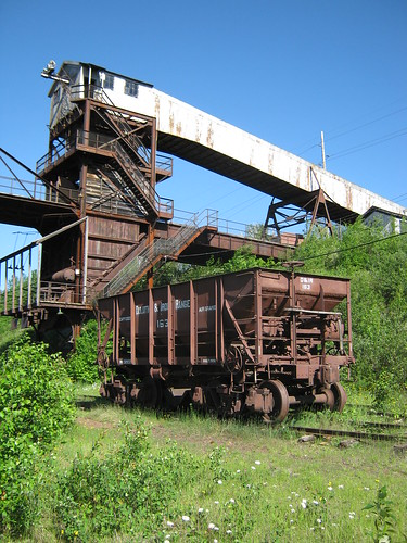 Railroad Car and Trestle