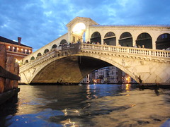 view of Rialto at night