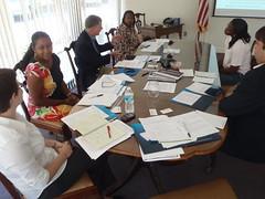 Natasha Fast, Angela Manning, Allan Ricketts (Project Manager), Geraldine Fairell, Keisha Ferguson, Brad Lofton (Executive Director)