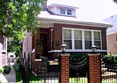 Typical house in Cragin, Chicago. (Cragin Spring) Tags: city urban house chicago home fence gate neighborhood chicagoil cragin