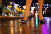 Vegas Shoes (Virginia Bailey Photography) Tags: city longexposure vegas orange usa yellow glitter america lyrics shoes highheels lasvegas bokeh nevada nv strip nights venetian nightlife hotels stilettos ♫♪ glittershoes canon50d