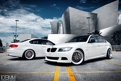 Widebody BMW 335i Sedan & Coupe (1013MM) Tags: white sedan nikon twin turbo alpine bmw bbs coupe f28 bimmer widebody e90 2470mm e92 335i d700