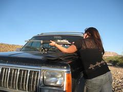 IMG_0799 (charlesmonroe98) Tags: county arizona black mountains creek silver rifle shooting mohave ruger mini14
