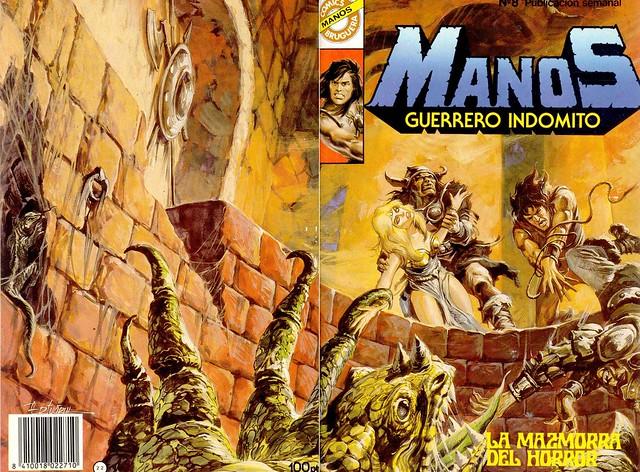 Manos Guerrero Indomito, Cover #8