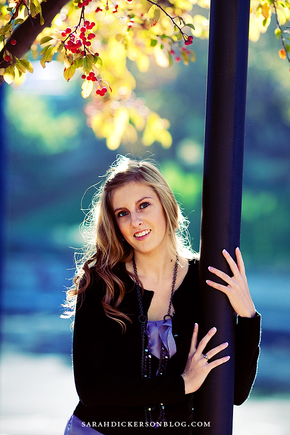 Country Club Plaza and Loose Park senior photos