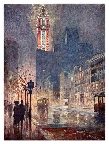 018-Edificio Singer parte baja de Broadway-New York- 1911-Martin Lewis