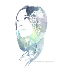 lady butterfly (BACHULLUS DESIGN) Tags: bali woman art girl fashion illustration pen ink pencils painting design graphic drawing watercolors bachullusdesign