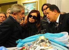 Los presidentes Luis Ignacio Lula Da silva, Ju...