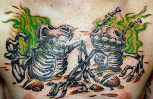 meelWORM - Skeletal Sam & Max Tattoo. Leonie Isaacs - A Telltale Halloween