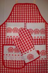 Kit Chá de Cozinha - 5 Peças (Bordabela Artesanato e Com) Tags: artesanato vermelho chádecozinha enxovaldecozinha