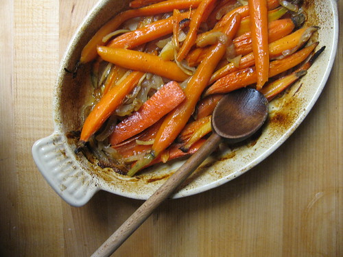 braised carrots with honey and ginger