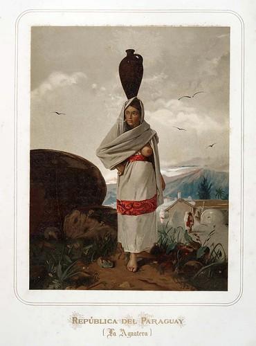 008-Republica del Paraguay-La Aguatera-Las Mujeres Españolas Portuguesas y Americanas 1876-Miguel Guijarro