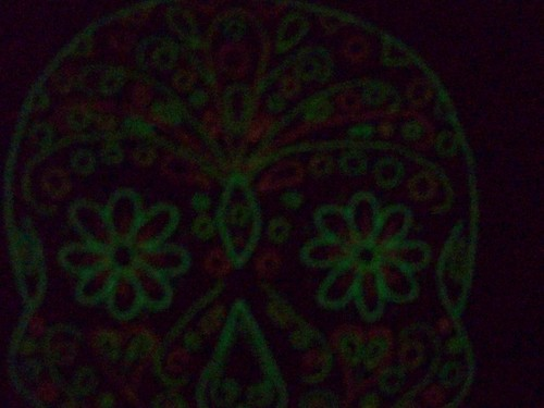 Sugar Skull Embroidery (in the dark)