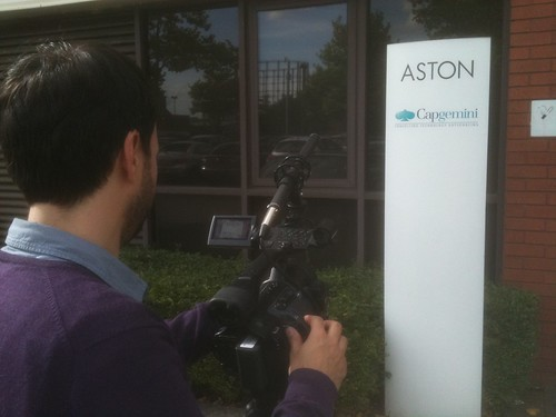 Filming at Capgemini Aston