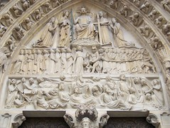 100_0430 (jrucker94) Tags: paris france europe travel landmark notredamecatheral notredame catheral church catholic iledelacite cathedralofourladyofparis architecture building sculptures romanesque frenchgothic