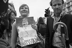 mayssolini (Paul Steptoe Riley) Tags: london street uk britain england politics monochrome blackandwhite