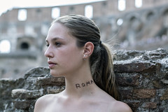 Busti (javiercbugarin) Tags: girl roma colisseum portrait rome italy blinde blonde model young beauty hair