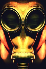 Who Will Hold Your Hand (Thomas Hawk) Tags: castrodistrict gasmask photowalking091507 photowalking sanfrancisco castro fav10 fav25
