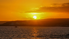 Maspalomas Sunset (Andy.Gocher) Tags: andygocher canon100d sigma18250 europe spain españa canary islands grancanaria canaryislands sunset coast clouds orange reflection sun sea seascape landscape