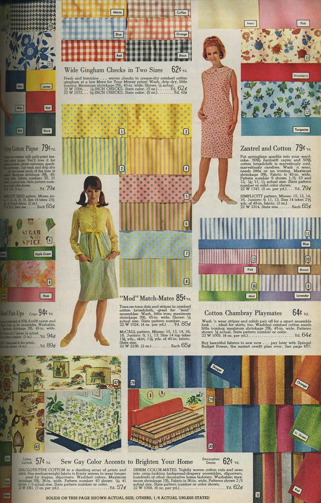 Spiegel catalog 1966 - fabrics
