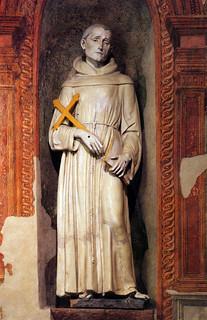 Andrea della Robbia, San Francesco, 1475 ca. Assisi, Santa Maria degli Angeli