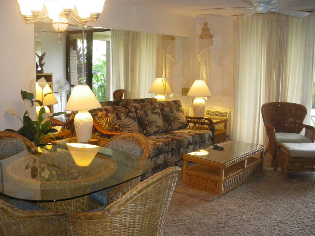 Kamaole Sands 6-102 Living Area