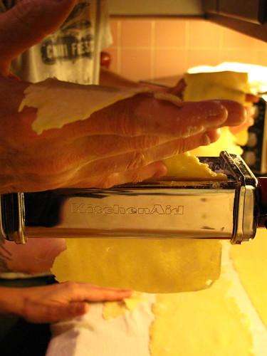 Making fresh homemade pasta!