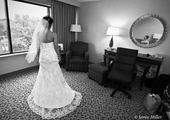 the bride (.darkchamber.) Tags: wedding blackandwhite bw reflection mirror bride nikon dress documentary weddingdress 1224mm hotelroom d300
