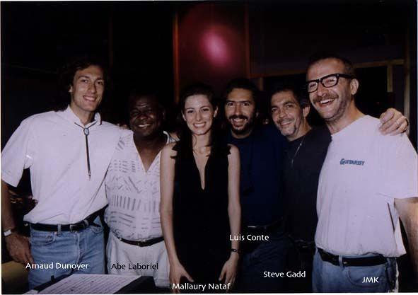 With MALLAURY NATAF, Arnaud Dunoyer de Segonzac, Luis Conte, Steve Gadd & Abe Laboriel