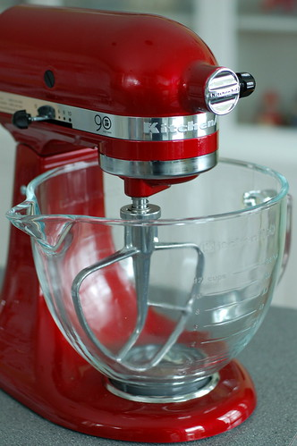 Candy Apple Red 90th Anniversary edition Kitchenaid mixer.