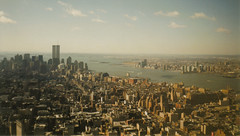 New York City - Downtown Manhattan (Mar 2001) (hobbitbrain) Tags: nyc newyorkcity ny newyork skyscraper worldtradecenter 100v10f twintowers empirestatebuilding wtc flatiron